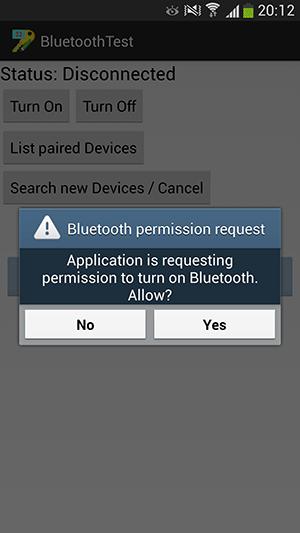 پروژه اندروید : روشن کردن بلوتوث (Bluetooth) - خاموش کردن بلوتوث (Bluetooth) - نمایش فهرست وسایل (device) متصل شده (paired) از نطر بلوتوث (Bluetooth) - جستجوی وسایل با بلوتوث روشن حاضر در اطراف گوشی