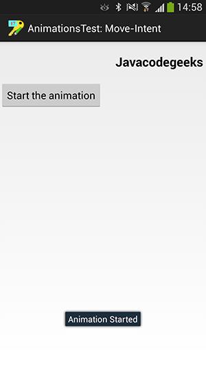 پروژه اندروید : انیمیشن هایی بر اساس عکس یا متن - چرخش عکس - بزرگ و کوچک شدن عکس - محو و پیدا شدن متن - حرکت متن به چپ و راست