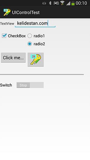 پروژه اندروید : عنصرهای مربوط به کنترل واسط گرافیکی برای کاربر (User Interface Controls) - عنصر TextView - عنصر EditText - عنصر CheckBox - عنصر RadioGroup - عنصر Button - عنصر ImageButton - عنصر ProgressBar - عنصر Switch - عنصر TimePicker - عنصر RatingBar