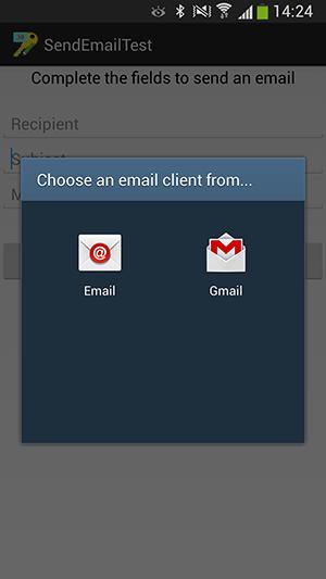 پروژه اندروید : ارسال ایمیل (email)