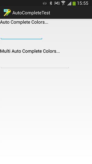 پروژه اندروید : کامل شدن خودکار (Auto Complete) نوشته ها، هنگام نوشتن متن، با استفاده از عنصرهای AutoCompleteTextView و MultiAutoCompleteTextView