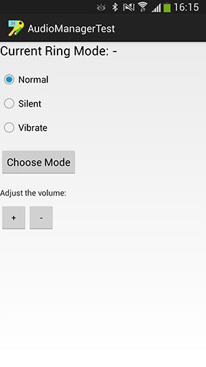 پروژه اندروید : تغییر ویژگی های زنگ گوشی (Ringtone) با استفاده از کلاس AudioManager - تغییر نوع (Mode) زنگ گوشی (Ringtone) - کم و زیاد کردن صدای زنگ گوشی (Ringtone)
