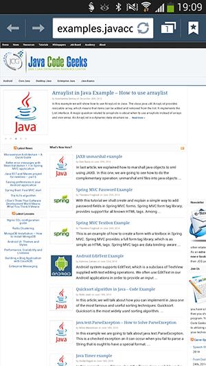 پروژه اندروید : کار با Intent ها - نمایش یک صفحه از اینترنت در مرورگر اینترنت گوشی اندروید - نمایش یک صفحه از اینترنت در خود برنامه اندروید