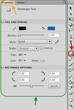 رسم شکل های ساده (مستطیل، مربع، دایره، بیضی و ...)، در flash ، با نرم افزار Adobe Flash Professional