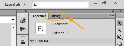 قرار دادن یک عکس در پروژه flash ، در نرم افزار Adobe Flash Professional