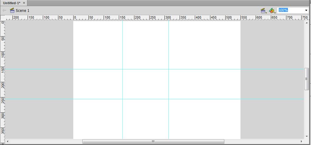 استفاده از خط کش (Rulers) و رسم خط های راهنما (Guide Line) برای خط کش، در پروژه flash ، در نرم افزار Adobe Flash Professional