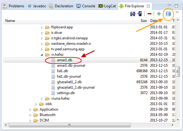 نصب پلاگین SQLiteManager برای مشاهده اطلاعات موجود در یک فایل مربوط به پایگاه داده SQLite ، توسط برنامه eclipse ، در برنامه نویسی اندروید