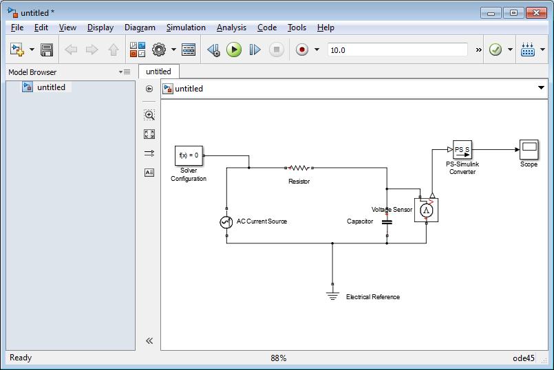 استفاده از سیمولینک (simulink) نرم افزار متلب برای تحلیل مدارهای الکتریکی (مناسب برای دانشجویان برق، مخصوصا درس مدار 1 و مدار 2)