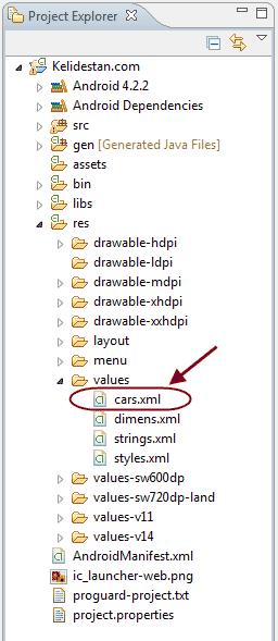 ساخت لیست (فهرست)، با استفاده از ListView ، در برنامه نویسی اندروید