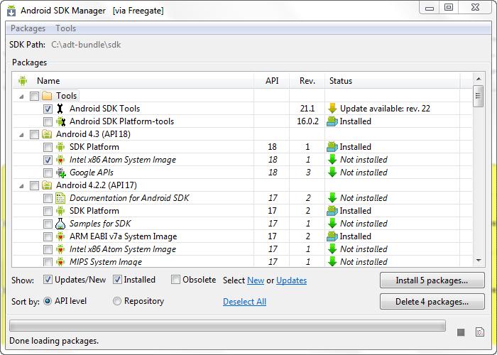 آموزش نصب بسته های نرم افزاری جدید برای Android SDK Manager ، با وجود تحریم های شرکت گوگل برای ایرانیان