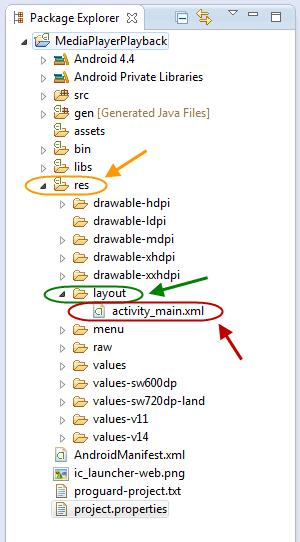 پخش یک فایل صوتی با استفاده از MediaPlayer ، با قابلیت به عقب و جلو بردن آهنگ (با استفاده از SeekBar)، در برنامه نویسی اندروید