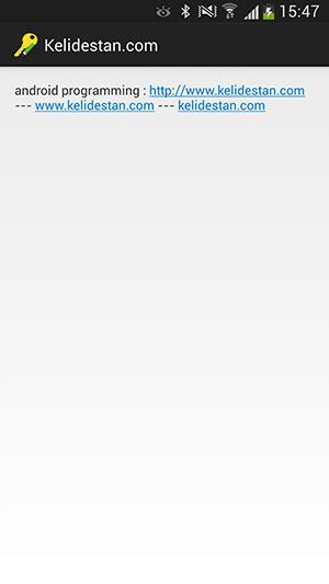 تبدیل خودکار آدرس های اینترنتی (URL) موجود در متن نمایش داده شده در یک TextView ، به لینک (link)، در برنامه نویسی اندروید