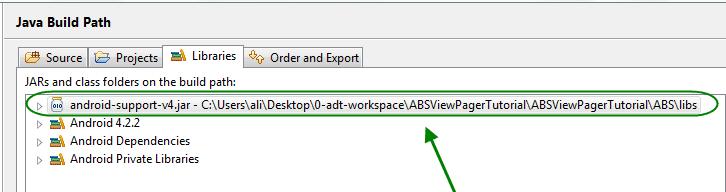 رفع مشکل نمایش یک علامت تعجب قرمز رنگ در کنار نام پروژه اندروید در برنامه eclipse ، با تصحیح مسیرها (build path)، در برنامه نویسی اندروید