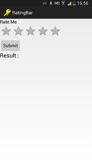 دریافت نظر کاربران بر اساس تعداد ستاره، با استفاده از عنصر RatingBar ، در برنامه نویسی اندروید