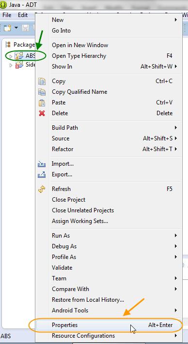 نحوه وارد (import) کردن پروژه های اندروید شامل یک یا چند کتابخانه (library) به درون برنامه eclipse و تصحیح مسیرها برای رفع خطاهای ناشی از انتقال پروژه اندروید به کامپیوتر جدید