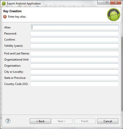 ساخت یک فایل APK از پروژه اندروید، در برنامه eclipse