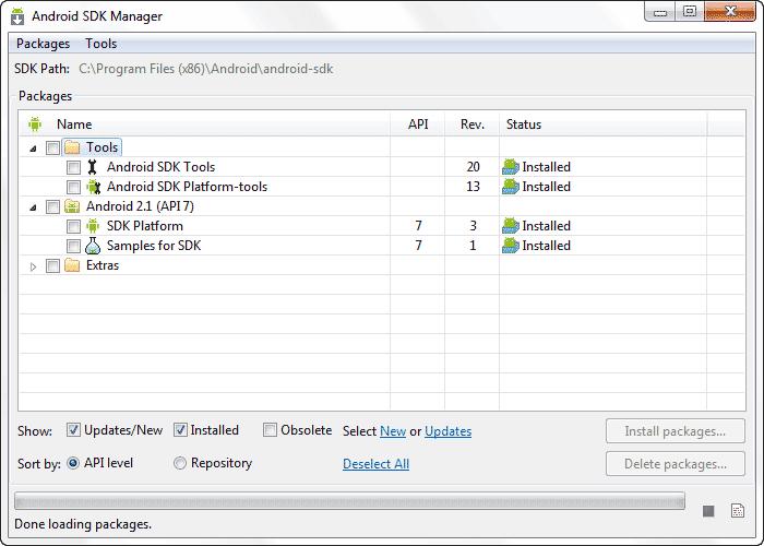 نصب یک نسخه انتخابی از اندروید