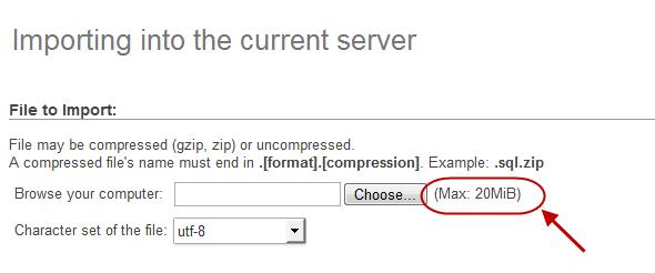 جلوگیری از خطای No data was received to import. Either no file name was submitted, or the file size exceeded the maximum size permitted by your PHP configuration ، هنگام وارد کردن (import) فایل پشتیبان از پایگاه داده (database) و جدول ها (tables)، در MySQL