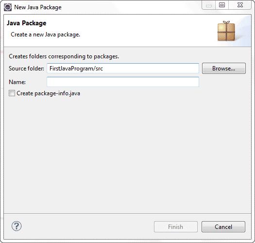 نوشتن اولین برنامه java در محیط برنامه eclipse