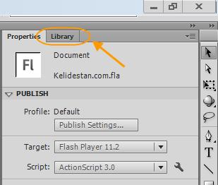 نقش Library در پروژه flash ، در نرم افزار Adobe Flash Professional